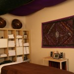 massage therapy hot stone treatment room in blue lotus day spa ruidoso
