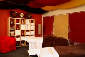 Couples Treatment room in Ruidoso Day Spa, Blue Lotus