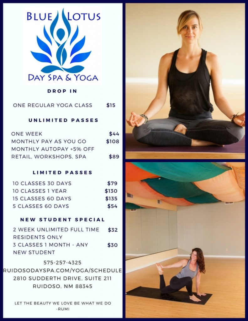 yoga rates | blue lotus